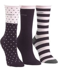 CALVIN KLEIN 205W39NYC - Dot And Stripe Ankle Socks - Lyst