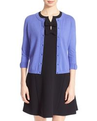 Kate Spade | 'somerset' Cotton Blend Cardigan | Lyst