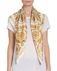 Versace Silk Scrollprint Scarf - Lyst