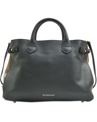 Burberry Ll Md Banner House Check Bag - Lyst