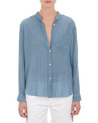 Etoile Isabel Marant Stripe Band-collar Urban Shirt - Lyst