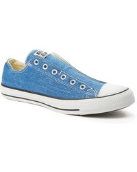 Converse Chuck Taylor All Star Slip-On Plimsolls blue - Lyst