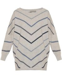 Queene And Belle - Lena Striped Cashmere Sweater - Lyst