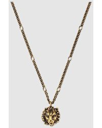 Gucci   Necklace With Lion Head Pendant   Lyst