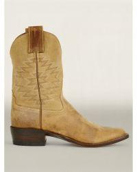 RRL Leather Plainview Cowboy Boot - Lyst