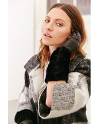 Urban Outfitters Leather  Fur Elbow Glove - Lyst