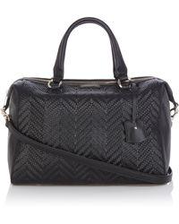 Karen Millen Woven Box Bag - Lyst