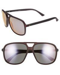 Gucci Women'S 60Mm Aviator Sunglasses - Dark Grey - Lyst