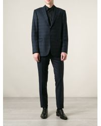 Ermenegildo Zegna Blue Checked Suit - Lyst