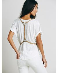 Free People Womens Leather Harness Vest - Lyst