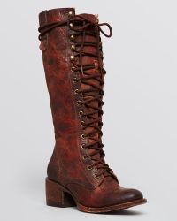 Freebird By Steven Lace Up Grany Boots - Lyst