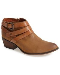 Steve Madden Women'S 'Regennt' Leather Bootie - Lyst