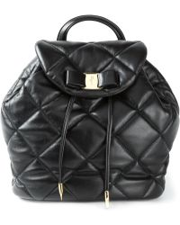 Ferragamo 'Vara' Quilted Backpack - Lyst