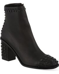 Alexander McQueen Mcq Studded Leather Ankle Boots Black - Lyst