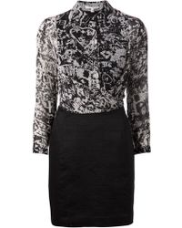 Carven Printed Shirt Dress - Lyst
