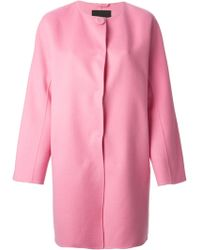 Ermanno Scervino Single Breasted Coat - Lyst
