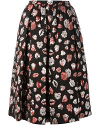 MSGM Embroidered Full Skirt - Lyst