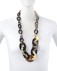 Ashley Pittman Laini Mixed Horn Bronze Necklace - Lyst