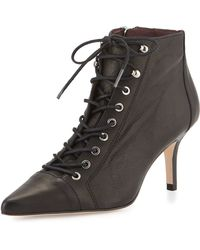 Etienne Aigner   Lana Leather Lace-up Bootie   Lyst