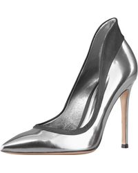 Gianvito Rossi Metallic Raised-back Pump - Lyst