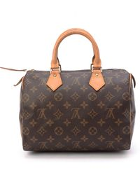 Louis Vuitton Brown Speedy 25 Handbag - Lyst