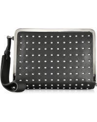 McQ by Alexander McQueen Aira Black Leather And Studs Clutch - Lyst