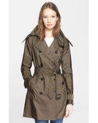 Burberry Brit 'Balmoral' Packable Trench, Green - Lyst