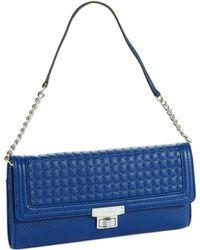 Calvin Klein Blue Quilted Clutch - Lyst