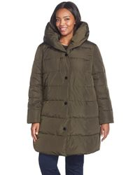 Gallery - Pillow Hood Quilted Down & Feather Fill Stadium Coat - Lyst