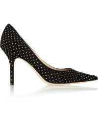 Jimmy Choo - Agnes Studded Suede Court Shoes - Lyst