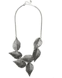 Muchtoomuch Leafing Town Necklace in Silver - Lyst