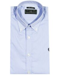 Fred Perry Shirt Stripped Botton Down Slim Fit - Lyst