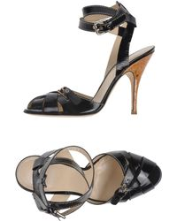 D&G Black Sandals - Lyst