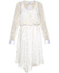 Prabal Gurung Embroidered Sheer-Chiffon Dress - Lyst