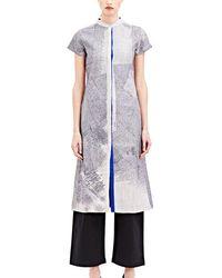 Swati Kalsi - Women's Slim Embroidered Jacket In Grey - Lyst