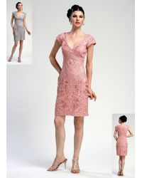 Sue Wong | C3109 In Rose Dress | Lyst