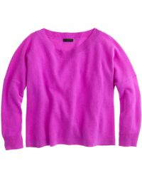 J.Crew Collection Cashmere Cropped Sweater - Lyst