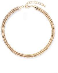 Saks Fifth Avenue Tubular Jeweled Necklace - Lyst