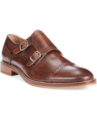 Johnston & Murphy Conard Double Monk Shoes - Lyst