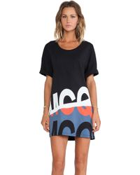 McQ by Alexander McQueen Folded Print T Sleeve Dress - Lyst