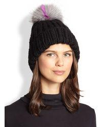 Eugenia Kim Rain Wool  Arctic Fox Fur Beanie - Lyst