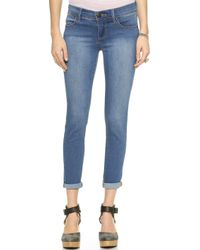 Free People Roller Crop Jeans - Lou Blue - Lyst