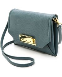 Zac Zac Posen Eartha Envelope Cross Body Bag - Mineral - Lyst