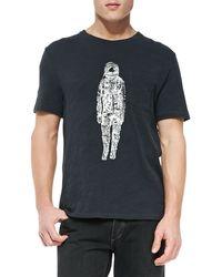 Rag & Bone Jersey Spaceman Graphic Tee - Lyst