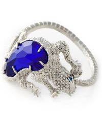 Alexander McQueen Silver Salamander Bracelet - Lyst