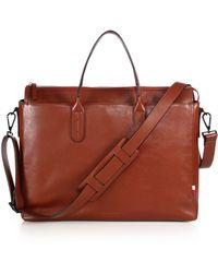Ben Minkoff Brompton Leather Briefcase - Lyst