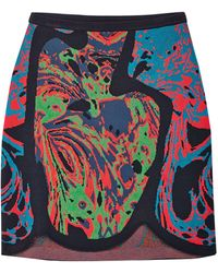 M Missoni Multi Coloured Jacquard Skirt - Lyst