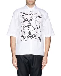 Marni Floral Bib Cotton Shirt - Lyst