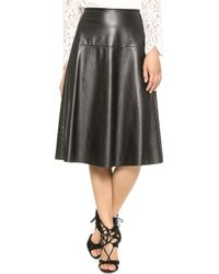 Twelfth Street by Cynthia Vincent Faux Leather Man Catcher Skirt Black - Lyst