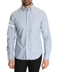 Gant Rugger Sky Blue Oxford Striped Button Down Shirt - Lyst